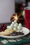 Holiday Cookies and Coffee Royalty Free Stock Photos