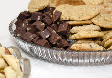 Holiday cookies and fudge Stock Photo