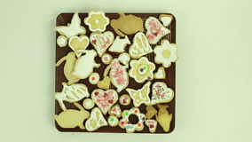 Holiday cookies stock video footage