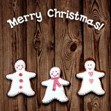 Holiday cookies on wooden background. Royalty Free Stock Photography