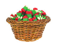 Holiday Corn Candy in Basket Side Stock Image
