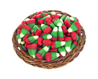 Holiday Corn Candy in Basket Top Royalty Free Stock Image