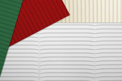Holiday Corrugated Cardboard Stock Photography