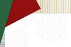 Holiday Corrugated Cardboard Stock Image