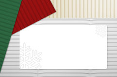 Holiday Corrugated Cardboard with Tag Royalty Free Stock Photos