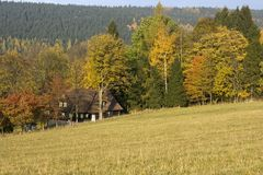Holiday cottage in the fall Royalty Free Stock Image