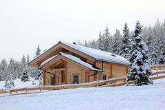 Holiday cottages, Alpine scenery. Stock Photography