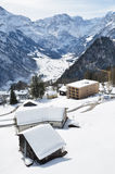 Holiday cottages in Braunwald, Switzerland Royalty Free Stock Image