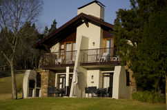Holiday cottages on the Drakensberg Stock Photos
