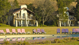 Holiday cottages on the Drakensberg Royalty Free Stock Image