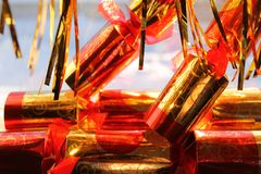 Holiday crackers Royalty Free Stock Photography