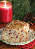 Holiday Cranberry Bread Stock Images