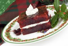 Holiday Cranberry Congealed Salad Stock Images