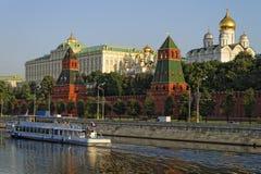 Holiday cruiser nea Kremlin quay Royalty Free Stock Image