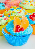 Holiday Cupcake with fruits and berries Stock Photography