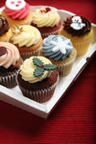 Holiday cupcakes Stock Photography