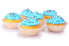Holiday Cupcakes Royalty Free Stock Photography