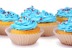 Holiday Cupcakes Stock Image