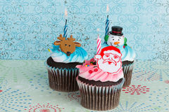 Holiday Cupcakes Royalty Free Stock Photo