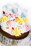 Holiday cupcakes on white background Stock Photography