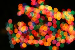Holiday decor mix color light  Royalty Free Stock Photo