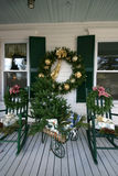 Holiday decorated porch  Stock Photography