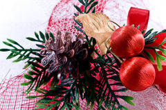 Holiday decoration. Holiday decoration on the snow Royalty Free Stock Photography