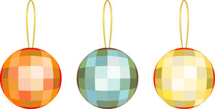 Holiday decoration ball stock photo