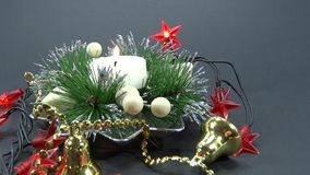Holiday decoration candle Stock Photography