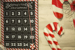 Holiday decoration, days until Christmas Royalty Free Stock Photography