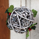 Holiday decoration of the house. Made of tree branches and cones Stock Photography