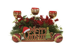 Holiday Decorations. A few holiday decorations can make a great Christmas display Royalty Free Stock Photography
