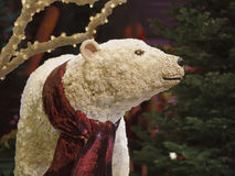 Holiday Decorations, Bellagio Hotel. Flowered polar bear is one of many festive holiday decorations in the conservatory, Bellagio Hotel, Las Vegas, Nevada Royalty Free Stock Image
