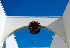 Holiday decorations at La Jolla village Royalty Free Stock Images