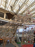 Holiday decorations in Les Halles shopping mall, Paris, France Stock Images