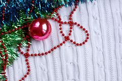 Holiday decorative background with decorative lights Royalty Free Stock Photo