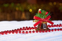 Holiday decorative background with decorative lights Stock Images