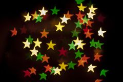 Holiday decorative background with decorative lights Stock Photography