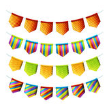 Holiday decorative bunting flags Stock Photography