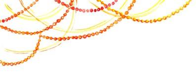 Holiday decorative garland. Watercolor border frame Royalty Free Stock Image