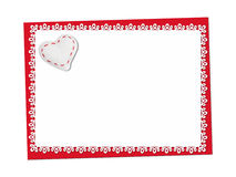 Holiday delicate, lacy card. St. Valentines day Royalty Free Stock Photos