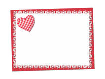 Holiday delicate, lacy card. St. Valentines day Stock Photos