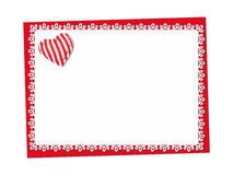 Holiday delicate, lacy card. St. Valentines day Royalty Free Stock Images