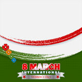 Holiday design, background for Celebration of International Women's Day Royalty Free Stock Image