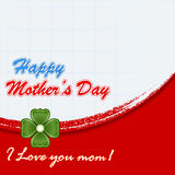 Holiday design, background for Celebration of Mother's Day Stock Image
