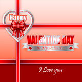 Holiday design, background with label heart shaped for Happy Valentine's Day Stock Image