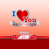 Holiday design, background with label heart shaped for Happy Valentine's Day Royalty Free Stock Image