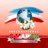 Holiday design, background for 8 March International Women's day Stock Photo