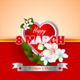 Holiday design, background for 8 March Women's Day Royalty Free Stock Image