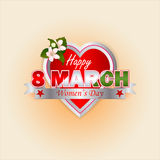 Holiday design, background for 8 March and Women's Day royalty free illustration